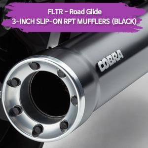 (98-09) BLACK 3-INCH RPT 슬립온 할리 머플러 코브라 베거스 로드 글라이드
