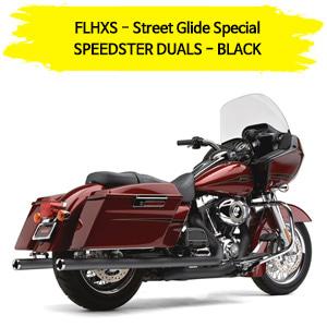 (14-16) BLACK 코브라 풀시스템 SPEEDSTER DUALS 할리 머플러 코브라 베거스 스트리트 글라이드 스페셜