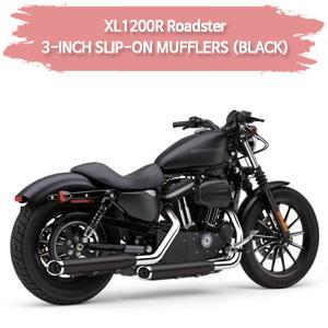 (04-08) XL1200R 로드스터 3-INCH (BLACK) 슬립온 할리 머플러 코브라 스포스터