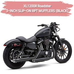 (04-08) 3-INCH RPT (BLACK) 슬립온 할리 머플러 코브라 스포스터 XL1200R 로드스터