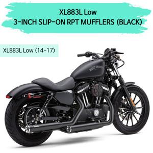 (14-17) 3-INCH RPT (BLACK) 슬립온 할리 스포스터 XL883L 로우 머플러 코브라