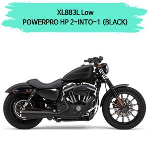 07-13 (BLACK) POWER PRO HP 2-INTO-1 풀시스템 할리 코브라 스포스터 XL883L 로우 머플러