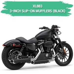(04-08) 블랙색상 3인치 슬립온 할리 머플러 코브라 스포스터 XL883