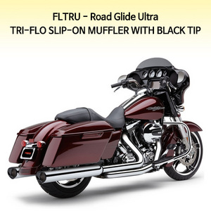 TRI-FLO WITH BLACK TIP 슬립온 할리 머플러 코브라 베거스 로드 글라이드울트라 (11-13)