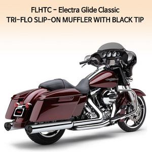 (95-13) 트리플로우 BLACK TIP 슬립온 할리 머플러 코브라 베거스 일렉트라 글라이드 클래식