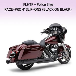 """(08-09) 레이스프로 4"""" (BLACK ON BLACK) 슬립온 할리 머플러 코브라 베거스"""