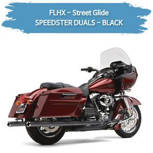 (10-16) 스트리트 글라이드 SPEEDSTER DUALS-BLACK 풀시스템 할리 머플러 코브라 베거스