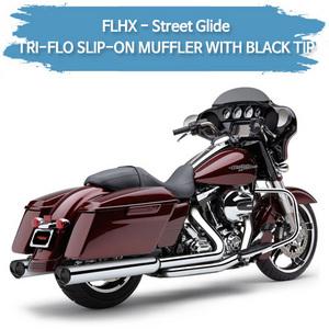 (06-09,11-16) 트리플로 WITH BLACK TIP 슬립온 할리 머플러 코브라 베거스 스트리트 글라이드