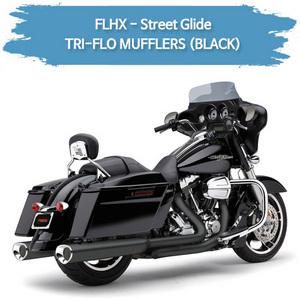 (06-09,11-16) BLACK TRI-FLO 슬립온 할리 머플러 코브라 베거스 스트리트 글라이드