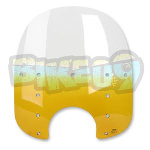 """MEP3215 팻 윈드쉴드- 17"""" - 옐로우- 플라스틱 - 오토바이 할리 아메리칸 윈드쉴드 윈드스크린 MEP3215"""