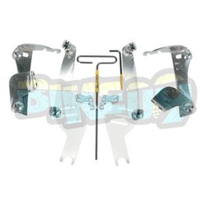 MEM8915 No-툴 트리거-락 마운트 키트 for 스포츠쉴드- VTX1300 - 오토바이 할리 아메리칸 윈드쉴드 윈드스크린 2321-0041