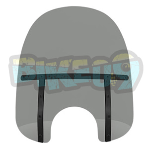 "MEB33112 팻 윈드쉴드 - 블랙 스모크- 19"" - 오토바이 할리 아메리칸 윈드쉴드 윈드스크린 2311-0109"