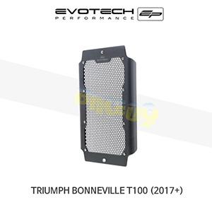 에보텍 TRIUMPH 트라이엄프 본네빌 T100 라지에다가드 2017+ (Black)