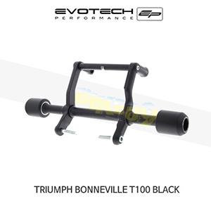에보텍 TRIUMPH 트라이엄프 본네빌 T100 Black 크래쉬슬라이더 2017+