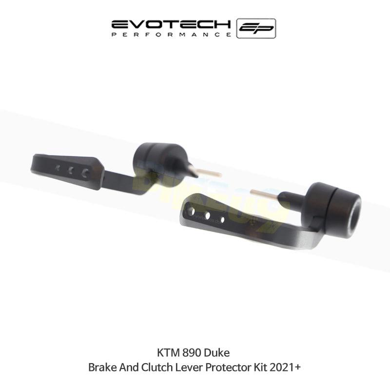에보텍 KTM 890듀크 브레이크&클러치레버프로텍터킷 2021+ PRN014071-014075-08