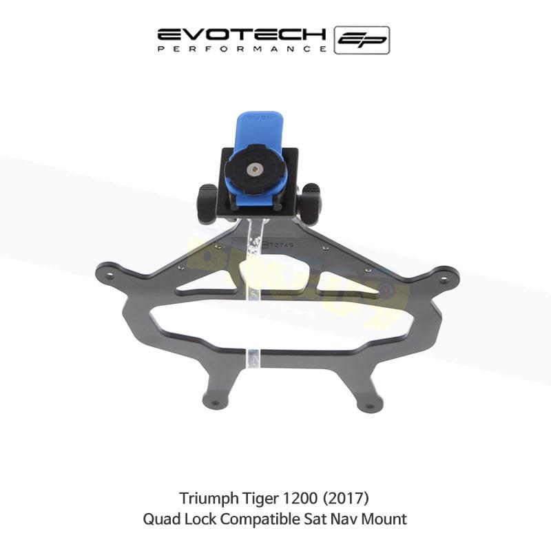 에보텍 TRIUMPH 트라이엄프 타이거1200 Quad Lock 네비게이션 마운트 2017 PRN014516-014568-08