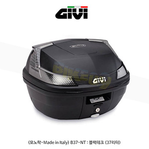 GIVI 기비 탑케이스 모노락(일반형) (모노락-Made in Italy) B37-NT : 블랙테크 (37리터)