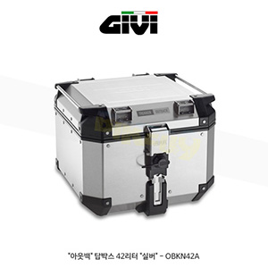 "GIVI 기비 탑케이스 아웃백(Outback) 탑박스 42리터 ""실버"" - OBKN42A"