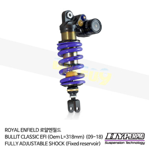 ROYAL ENFIELD 로얄엔필드 BULLIT CLASSIC EFI (Oem L=318mm) (09-18) FULLY ADJUSTABLE SHOCK (Fixed reservoir) 하이퍼프로