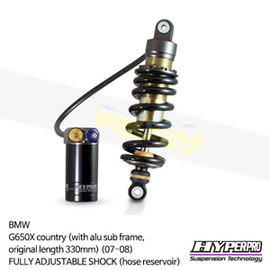 BMW G650X country (with alu sub frame,original length 330mm) (07-08) FULLY ADJUSTABLE SHOCK (hose reservoir) 하이퍼프로