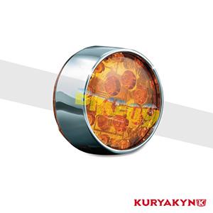 쿠리야킨 할리 튜닝 부품 투어링 (02-19) L.E.D. Front Turn Signal Inserts, Bullet Style with Chrome Bezels & Amber Lenses, Dual Circuit 테일라이트/LED 테일라이트 깜빡이 5442
