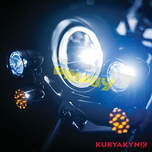 쿠리야킨 할리 튜닝 부품 소프테일 (02-19) L.E.D. Front Turn Signal Inserts, Bullet Style with Chrome Bezels & Amber Lenses, Dual Circuit 테일라이트/LED 테일라이트 깜빡이 5442