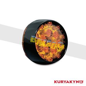 쿠리야킨 할리 튜닝 부품 투어링 (02-19) L.E.D. Front Turn Signal Inserts, Bullet Style with Gloss Black Bezels & Amber Lenses, Dual Circuit 테일라이트/LED 테일라이트 깜빡이 5455