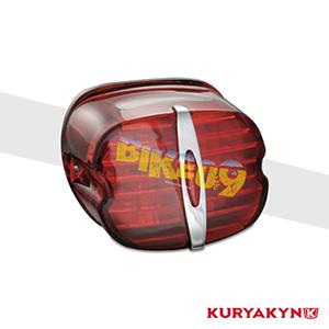 쿠리야킨 할리 튜닝 부품 투어링 (88-19) Deluxe ECE L.E.D. Taillight, Red with License Illumination LED 테일라이트 깜빡이 5462