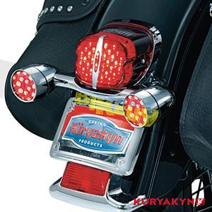 쿠리야킨 할리 튜닝 부품 소프테일 (89-19) Deluxe ECE L.E.D. Taillight, Red with License Illumination LED 테일라이트 깜빡이 5462