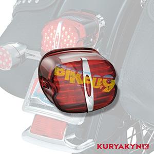 쿠리야킨 할리 튜닝 부품 다이나 (91-17) Deluxe ECE L.E.D. Taillight, Red with License Illumination LED 테일라이트 깜빡이 5462