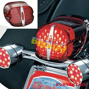 쿠리야킨 할리 튜닝 부품 스포스터 (89-19) Deluxe ECE L.E.D. Taillight, Red with License Illumination LED 테일라이트 깜빡이 5462