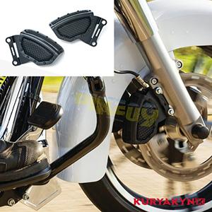 쿠리야킨 할리 튜닝 부품 브이로드 (06-11) Mesh Front Caliper Covers, Satin Black 프론트 리어 캘리퍼 커버 6539