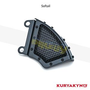 쿠리야킨 할리 튜닝 부품 소프테일 (08-14) Mesh Front Caliper Cover, Satin Black 프론트 리어 캘리퍼 커버 6541