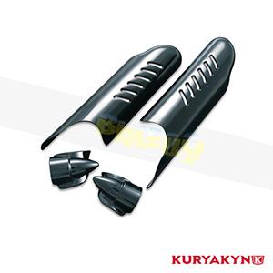 쿠리야킨 할리 튜닝 부품 투어링 (00-13) Lower Leg Deflector Shields with Fender Boss Covers, Gloss Black 프론트 리어 캘리퍼 커버 7209