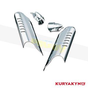 쿠리야킨 할리 튜닝 부품 투어링 (00-13) Lower Leg Deflector Shields with Fender Boss Covers, Chrome 프론트 리어 캘리퍼 커버 7768