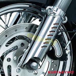 쿠리야킨 할리 튜닝 부품 다이나 (93-05) Lower Leg Deflector Shield, Chrome 프론트 리어 캘리퍼 커버 7212