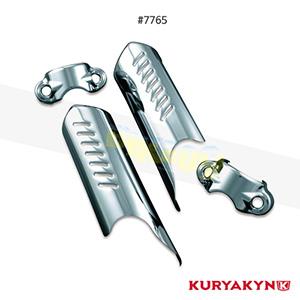 쿠리야킨 할리 튜닝 부품 소프테일 (86-17) Lower Leg Deflector Shields, Chrome 프론트 리어 캘리퍼 커버 7765