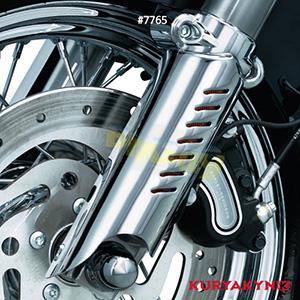 쿠리야킨 할리 튜닝 부품 다이나 (93-17) Lower Leg Deflector Shields, Chrome 프론트 리어 캘리퍼 커버 7765