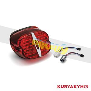 쿠리야킨 할리 튜닝 부품 다이나 FLD (12-16) Deluxe ECE L.E.D. Taillight, Red without License Illumination LED 테일라이트 깜빡이 5463