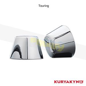 쿠리야킨 할리 튜닝 부품 투어링 (80-99) Front Axle Caps, Chrome 프론트 리어 캘리퍼 커버 1201