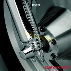쿠리야킨 할리 튜닝 부품 투어링 (00-07) Front Axle Caps, Chrome 프론트 리어 캘리퍼 커버 1213