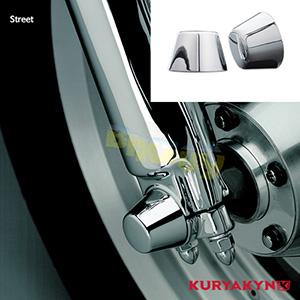 쿠리야킨 할리 튜닝 부품 스트리트 (15-19) Front Axle Caps, Chrome 프론트 리어 캘리퍼 커버 1214