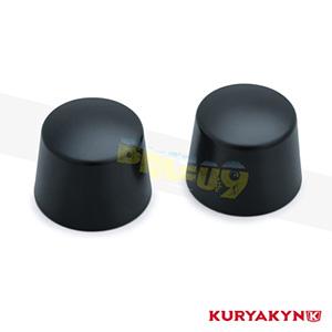 쿠리야킨 할리 튜닝 부품 투어링 (08-19) Front Axle Nut Caps, Satin Black 프론트 리어 캘리퍼 커버 1229