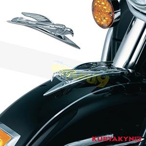 쿠리야킨 할리 튜닝 부품 할리범용 Deco Eagle Fender Ornament, Chrome 프론트 리어 캘리퍼 커버 7333