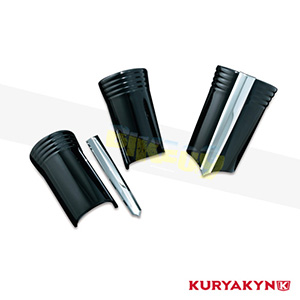 쿠리야킨 할리 튜닝 부품 투어링 (96-13) Upper Fork Slider Covers, Gloss Black 프론트 리어 캘리퍼 커버 7211