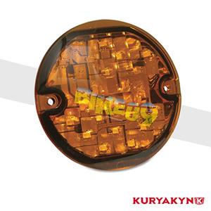 쿠리야킨 할리 튜닝 부품 투어링 (94-19) ECE Flat Style Amber L.E.D. Turn Signal Inserts, Amber Lens, Amber LED 테일라이트 깜빡이 5470