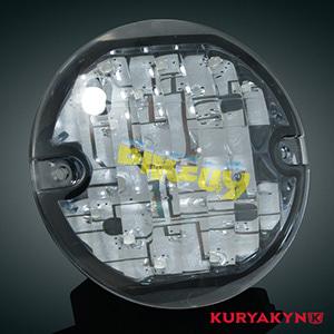 쿠리야킨 할리 튜닝 부품 투어링 (94-19) ECE Flat Style Amber L.E.D. Turn Signal Inserts, Smoke Lens, Smoke LED 테일라이트 깜빡이 5471