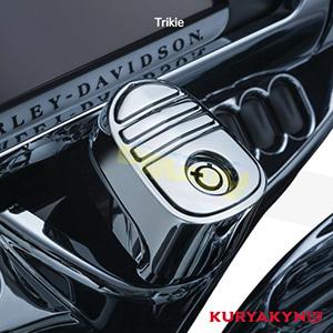 쿠리야킨 할리 튜닝 부품 Trikie (14-19) Tri-Line Ignition Switch Cover, Chrome 이너 페어링 6984