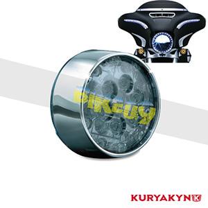 쿠리야킨 할리 튜닝 부품 다이나 (01-17) ECE Bullet Style Amber L.E.D. Turn Signal Inserts, Smoke Lens, Chrome LED 테일라이트 깜빡이 5473