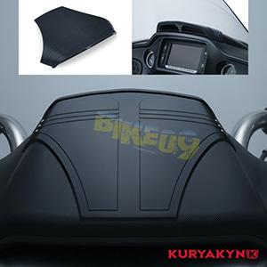 쿠리야킨 할리 튜닝 부품 투어링 (15-19) Road Glide Tri-Line Top Dash Accent, Gloss Black 이너 페어링 6963